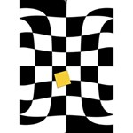 Dropout Yellow Black And White Distorted Check Apple 3D Greeting Card (7x5) Inside