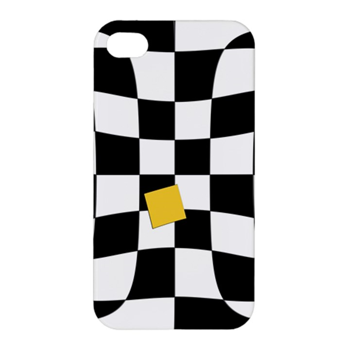 Dropout Yellow Black And White Distorted Check Apple iPhone 4/4S Hardshell Case