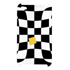 Dropout Yellow Black And White Distorted Check Apple iPod Touch 4