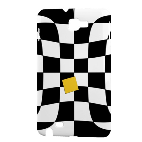 Dropout Yellow Black And White Distorted Check Samsung Galaxy Note 1 Hardshell Case