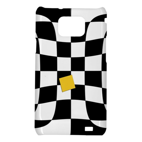 Dropout Yellow Black And White Distorted Check Samsung Galaxy S2 i9100 Hardshell Case