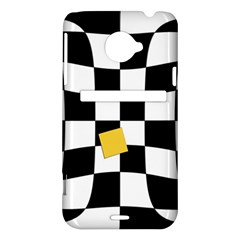 Dropout Yellow Black And White Distorted Check HTC Evo 4G LTE Hardshell Case