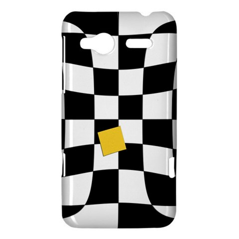 Dropout Yellow Black And White Distorted Check HTC Radar Hardshell Case