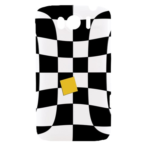 Dropout Yellow Black And White Distorted Check HTC Sensation XL Hardshell Case