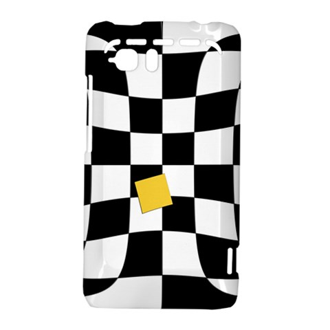 Dropout Yellow Black And White Distorted Check HTC Vivid / Raider 4G Hardshell Case