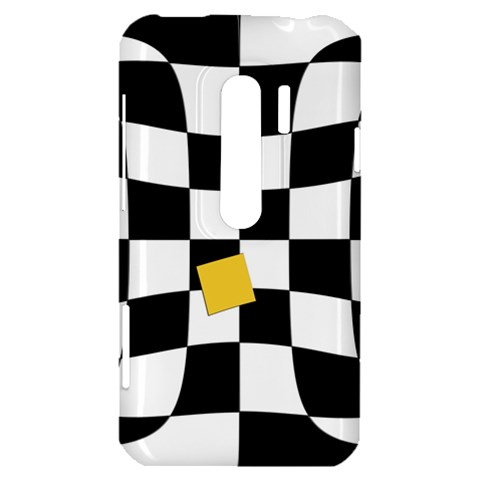 Dropout Yellow Black And White Distorted Check HTC Evo 3D Hardshell Case