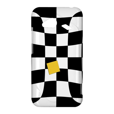 Dropout Yellow Black And White Distorted Check HTC Droid Incredible 4G LTE Hardshell Case