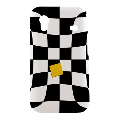 Dropout Yellow Black And White Distorted Check Samsung Galaxy Ace S5830 Hardshell Case