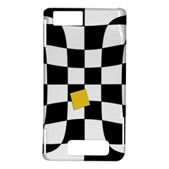 Dropout Yellow Black And White Distorted Check Motorola DROID X2