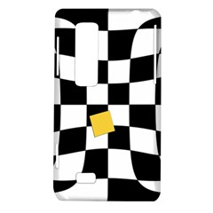 Dropout Yellow Black And White Distorted Check LG Optimus Thrill 4G P925