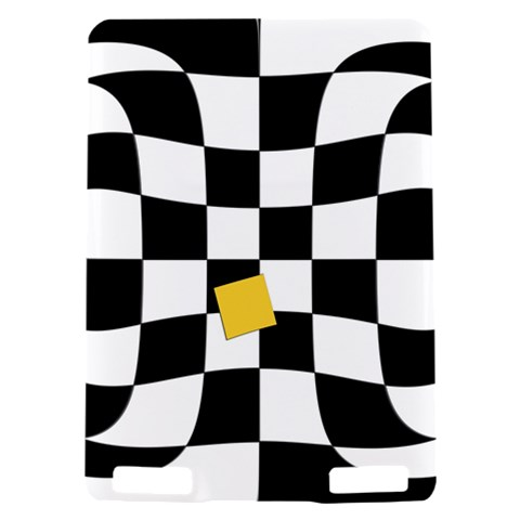 Dropout Yellow Black And White Distorted Check Kindle Touch 3G
