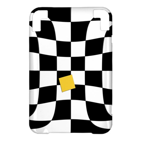 Dropout Yellow Black And White Distorted Check Kindle 3 Keyboard 3G