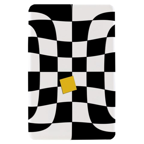 Dropout Yellow Black And White Distorted Check Kindle Fire (1st Gen) Hardshell Case