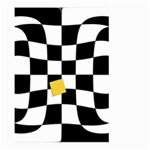 Dropout Yellow Black And White Distorted Check Large Garden Flag (Two Sides) Back