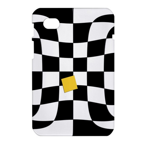 Dropout Yellow Black And White Distorted Check Samsung Galaxy Tab 7  P1000 Hardshell Case