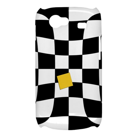Dropout Yellow Black And White Distorted Check Samsung Galaxy Nexus S i9020 Hardshell Case
