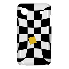 Dropout Yellow Black And White Distorted Check Samsung Galaxy SL i9003 Hardshell Case