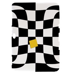Dropout Yellow Black And White Distorted Check Samsung Galaxy Tab 8.9  P7300 Hardshell Case