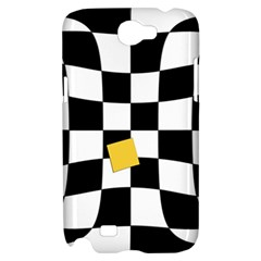 Dropout Yellow Black And White Distorted Check Samsung Galaxy Note 2 Hardshell Case