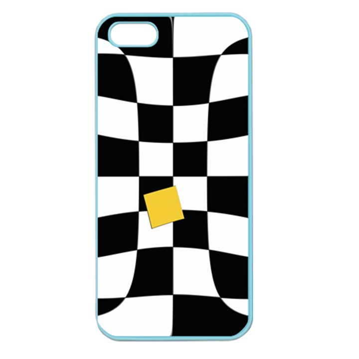 Dropout Yellow Black And White Distorted Check Apple Seamless iPhone 5 Case (Color)
