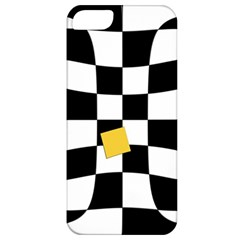 Dropout Yellow Black And White Distorted Check Apple Iphone 5 Classic Hardshell Case