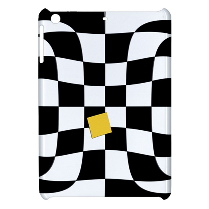 Dropout Yellow Black And White Distorted Check Apple iPad Mini Hardshell Case