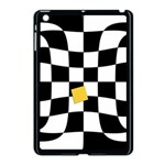 Dropout Yellow Black And White Distorted Check Apple iPad Mini Case (Black) Front