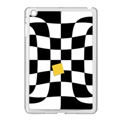 Dropout Yellow Black And White Distorted Check Apple Ipad Mini Case (white)