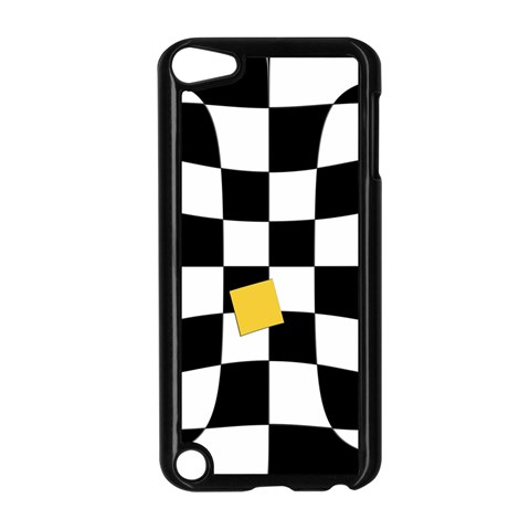 Dropout Yellow Black And White Distorted Check Apple iPod Touch 5 Case (Black)