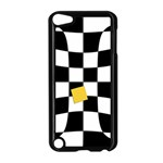 Dropout Yellow Black And White Distorted Check Apple iPod Touch 5 Case (Black) Front