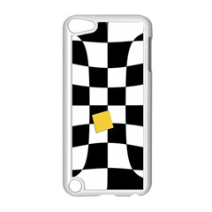 Dropout Yellow Black And White Distorted Check Apple iPod Touch 5 Case (White)