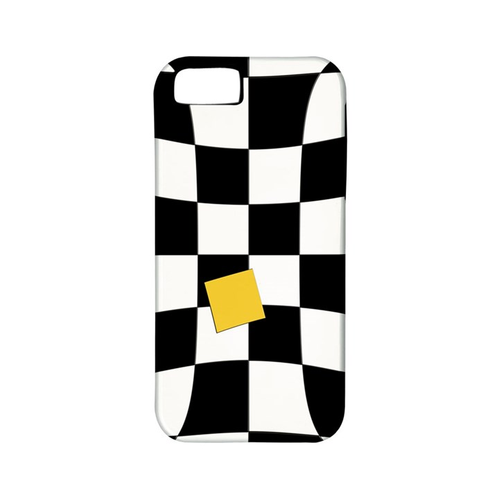 Dropout Yellow Black And White Distorted Check Apple iPhone 5 Classic Hardshell Case (PC+Silicone)