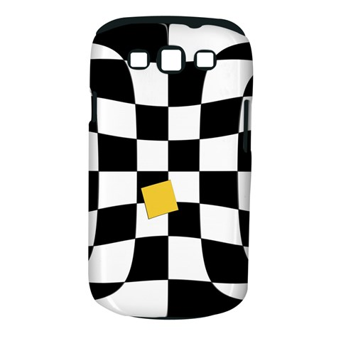 Dropout Yellow Black And White Distorted Check Samsung Galaxy S III Classic Hardshell Case (PC+Silicone)