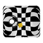 Dropout Yellow Black And White Distorted Check Samsung Galaxy S  III Flip 360 Case Front