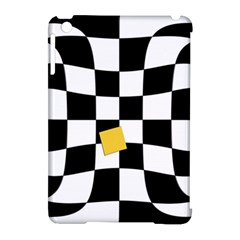 Dropout Yellow Black And White Distorted Check Apple iPad Mini Hardshell Case (Compatible with Smart Cover)