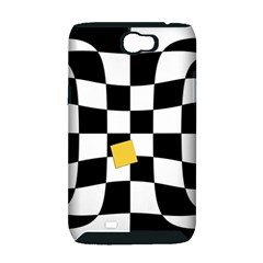Dropout Yellow Black And White Distorted Check Samsung Galaxy Note 2 Hardshell Case (PC+Silicone)