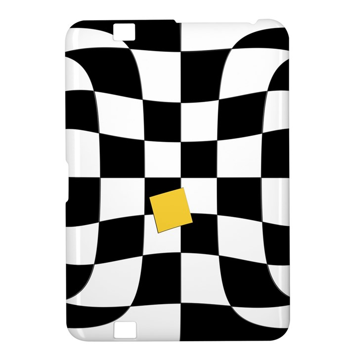 Dropout Yellow Black And White Distorted Check Kindle Fire HD 8.9