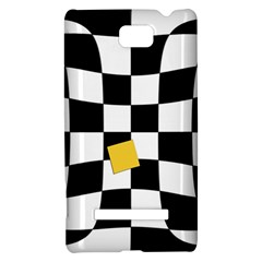 Dropout Yellow Black And White Distorted Check HTC 8S Hardshell Case