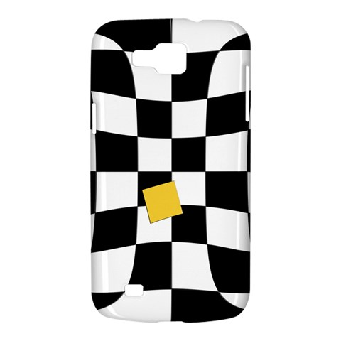 Dropout Yellow Black And White Distorted Check Samsung Galaxy Premier I9260 Hardshell Case