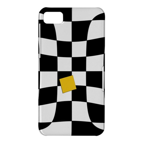 Dropout Yellow Black And White Distorted Check BlackBerry Z10