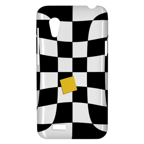 Dropout Yellow Black And White Distorted Check HTC Desire VT (T328T) Hardshell Case