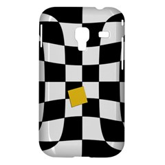 Dropout Yellow Black And White Distorted Check Samsung Galaxy Ace Plus S7500 Hardshell Case