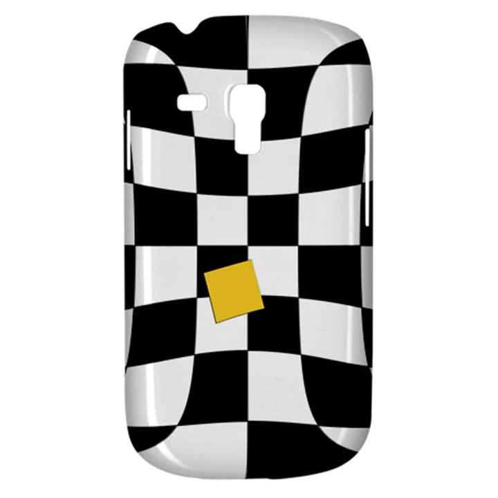 Dropout Yellow Black And White Distorted Check Samsung Galaxy S3 MINI I8190 Hardshell Case