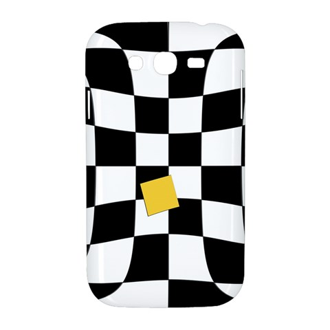 Dropout Yellow Black And White Distorted Check Samsung Galaxy Grand DUOS I9082 Hardshell Case