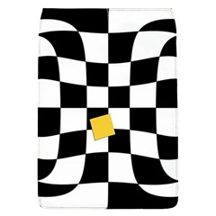 Dropout Yellow Black And White Distorted Check Flap Covers (l)
