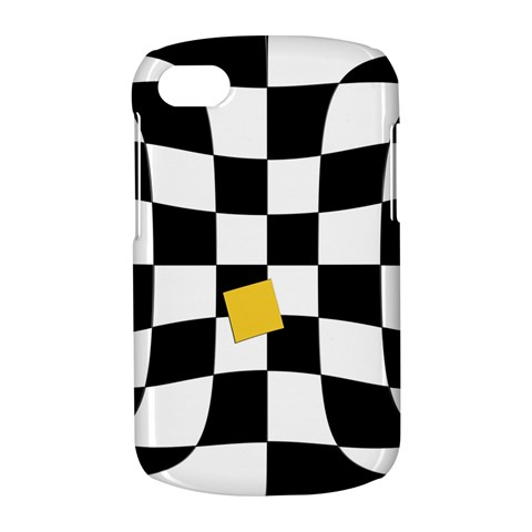 Dropout Yellow Black And White Distorted Check BlackBerry Q10