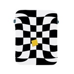 Dropout Yellow Black And White Distorted Check Apple iPad 2/3/4 Protective Soft Cases Front