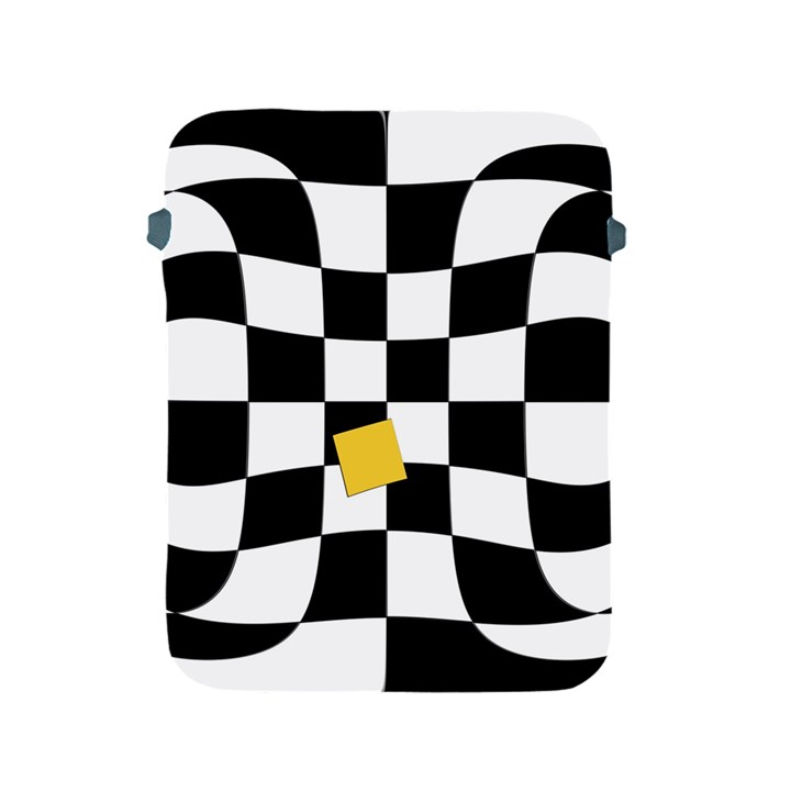 Dropout Yellow Black And White Distorted Check Apple iPad 2/3/4 Protective Soft Cases