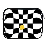 Dropout Yellow Black And White Distorted Check Apple iPad 2/3/4 Zipper Cases Front