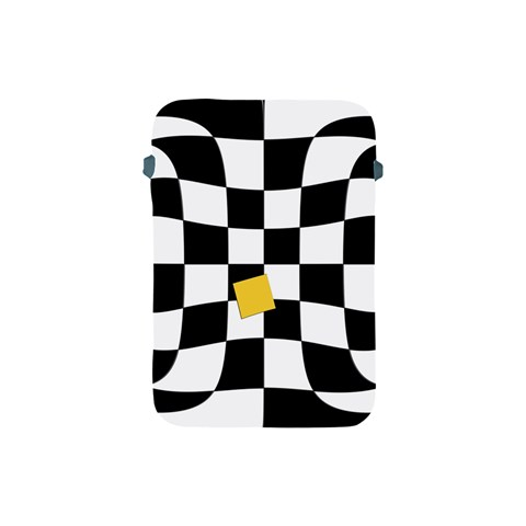 Dropout Yellow Black And White Distorted Check Apple iPad Mini Protective Soft Cases